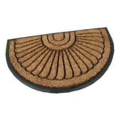 FLOMA Kokosová čistící venkovní půlkruhová vstupní rohož Flower - délka 45 cm, šířka 75 cm a výška 2,2 cm