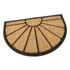 FLOMA Kokosová čistící venkovní půlkruhová vstupní rohož Sun - délka 40 cm, šířka 60 cm a výška 1,7 cm
