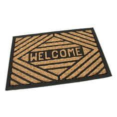 FLOMA Kokosová čistící venkovní vstupní rohož Welcome - Rectangle - délka 40 cm, šířka 60 cm a výška 0,8 cm