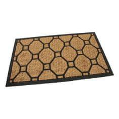 FLOMA Kokosová čistící venkovní vstupní rohož Squares - Rectangle - délka 45 cm, šířka 75 cm a výška 0,8 cm