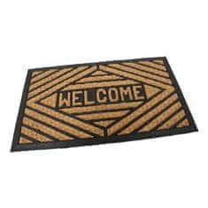 FLOMA Kokosová čistící venkovní vstupní rohož Welcome - Rectangle - délka 45 cm, šířka 75 cm a výška 0,8 cm