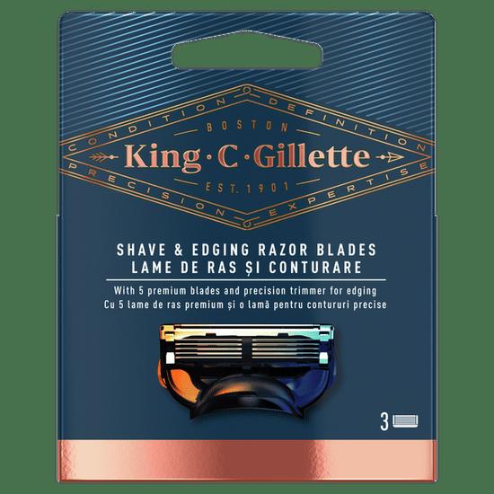 Gillette King C. Brivna glava za britje in oblikovanje x3