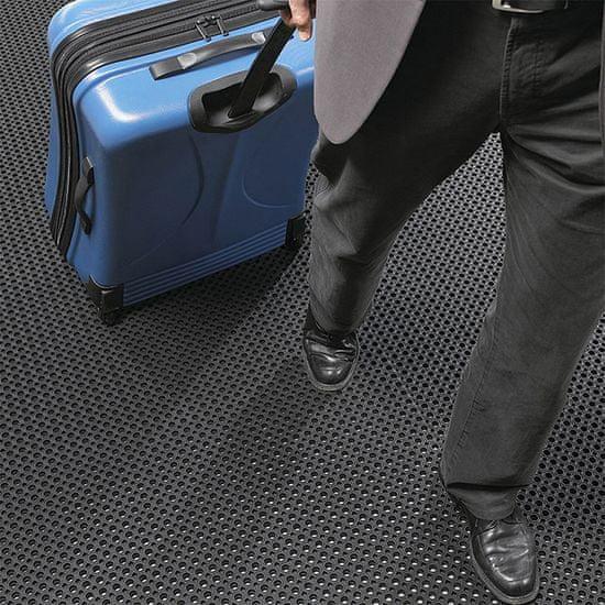 Černá gumová čistící venkovní vstupní rohož Octomat Mini - 100 x 75 x 1,25 cm