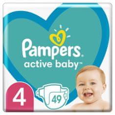 Pampers pieluchy Active Baby rozm. 4 49 szt., 9-14kg
