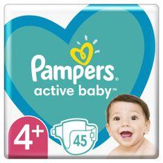 Pampers pieluchy Active Baby rozm. 4+, 45 szt., 10–15kg