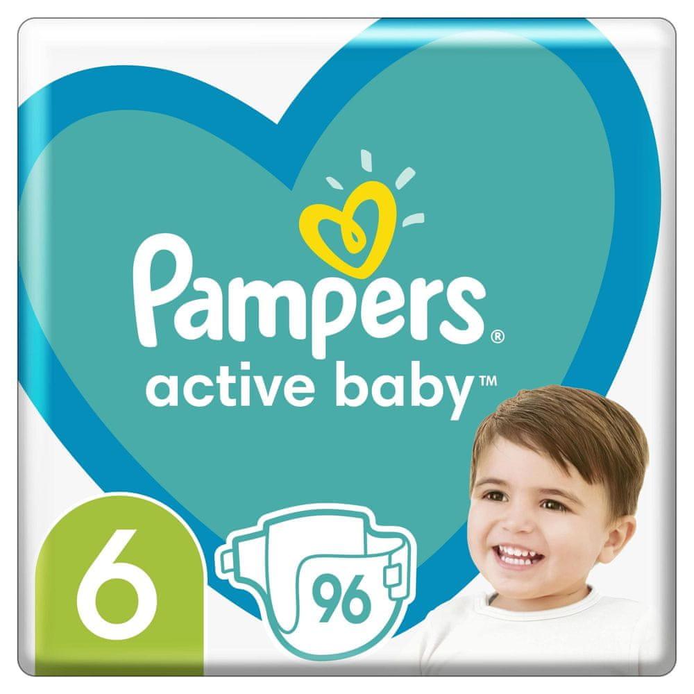 Pampers Active Baby Mega Pack Velikost 6, 96 ks 13–18 kg
