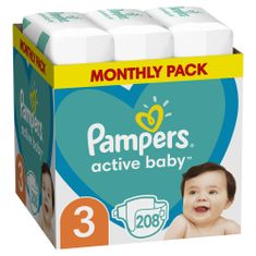 Pampers Active Baby 3 Midi Pelenka - 208 db