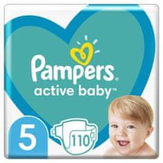 Pampers Active Baby Plenky Veľkosť 5, 110 Plienok, 11-16 kg