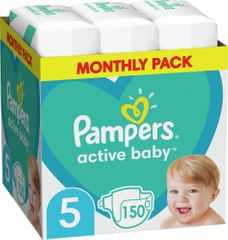 Pampers Active Baby 5 Junior Pelenka (11-16 kg) 150 db