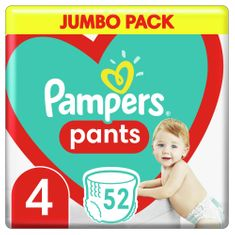 Pampers Pants 4 Maxi (9-15 kg) Jumbo Pack 52 szt.