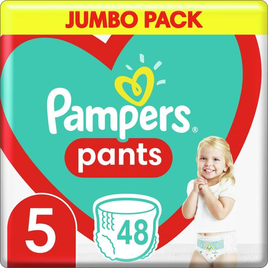 Pampers Pants 5 Junior (12-17 kg) Jumbo Pack - Hlačne plenice 48 kosov