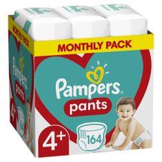 Pampers Plenkové Kalhotky Velikost 4+ (9-15 kg) 164 ks Plenkových Kalhotek – Měsíční balení