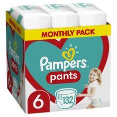 Pampers Plienkové nohavičky Pants 6 (15+ kg) 132 ks - Mesačné balenie