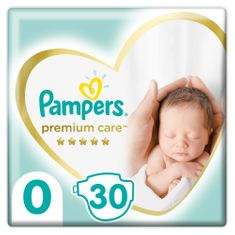 Pampers Pleny Premium Care 0 Newborn (do 3kg) 30ks