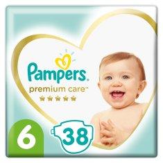 Pampers Plienky Premium Care, Veľkosť 6, Plienka 38x