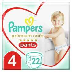 Pampers Premium Care 4 (9-15 kg) Pieluchomajtki Maxi 22 szt.