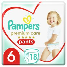 Pampers plenice Premium Pants 6 (15+ kg) 18 kosov