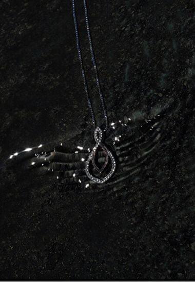 Hot Diamonds Srebrny naszyjnik z prawdziwym diamentem Lily DP734 srebro 925/1000