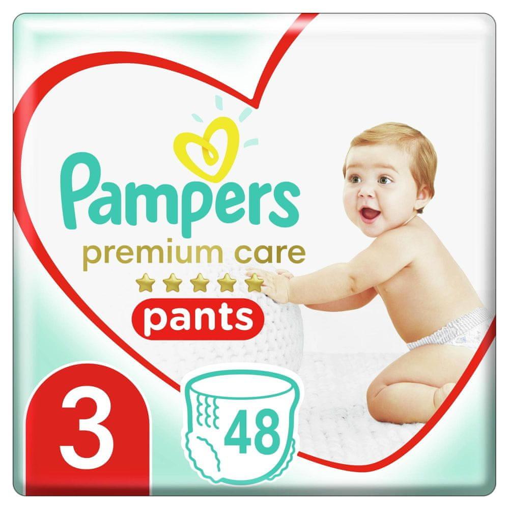 Pampers Plenkové kalhotky Premium Care Pants 3 (6-11 kg) Midi 48 ks