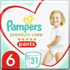 Pampers Plienkové nohavičky Premium Care Pants 6 (15+ kg) 31 ks