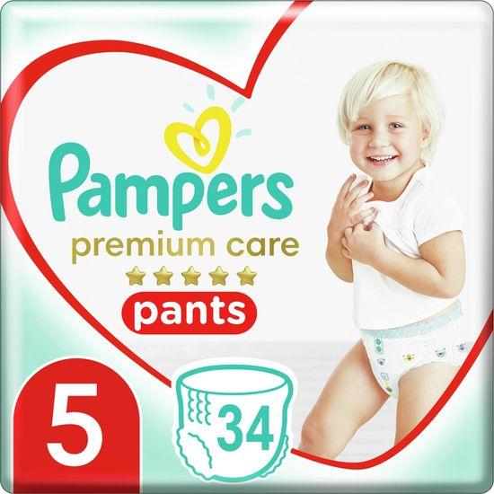 Pampers hlačne plenice Premium Care Pants 5 (12-17 kg) Junior 34 kos