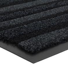 FLOMA Antracitová vnitřní čistící vstupní rohož Passage (Cfl-S1) - délka 68 cm, šířka 90 cm a výška 0,9 cm