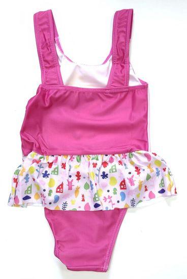 """SETINO Dívčí jednodílné plavky """"Bing"""" - tmavě růžová"""