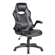 Bergner Pro Black Racing igralni stol, črno-siv