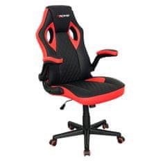 Bergner Essential Red Racing igralni stol, črno-rdeč