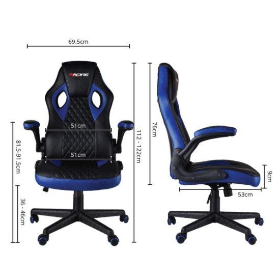 Bergner Essential Blue Racing igralni stol, črno-moder
