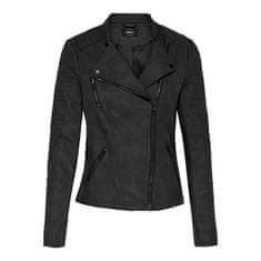 ONLY Női dzseki ONLAVA FAUX 15102997 Black (Méret 42)