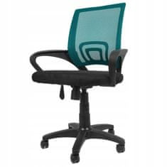 Aga Aurora irodai szék fekete - Türkiz