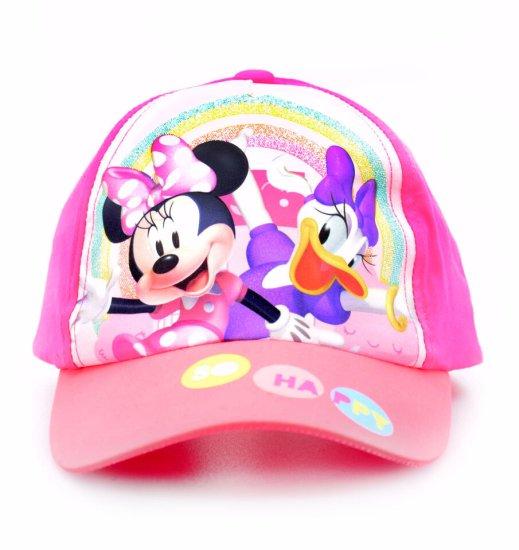 """SETINO Dziewczęca czapka z daszkiem """"Myszka Minnie"""" - ciemny różowy"""