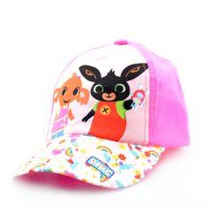 """SETINO Dziewczęca czapka z daszkiem BABY """"Bing"""" - jasny różowy - 50 cm"""
