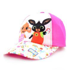 """SETINO Dziewczęca czapka z daszkiem BABY """"Bing"""" - ciemny różowy - 50 cm"""
