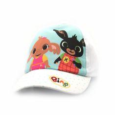 """SETINO Dziewczęca czapka z daszkiem BABY """"Bing"""" - biały - 50 cm"""