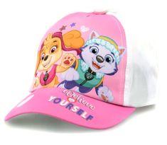 """SETINO Dziewczęca czapka z daszkiem BABY """"Psi Patrol"""" - biały - 48 cm"""