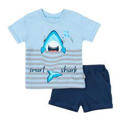 Garnamama chlapecký set trička a kraťasů md113539_fm3 74 modrá
