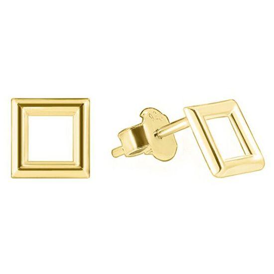 Brilio Zlaté náušnice štvorčeky GOLD003_AU_Y