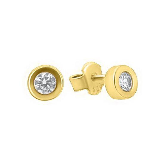 Brilio Náušnice zo žltého zlata so zirkónmi GOLD013_AU_Y