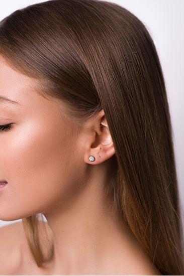 Brilio Silver Gyengéd ezüst fülbevalók cirkónium kővel GOLD013