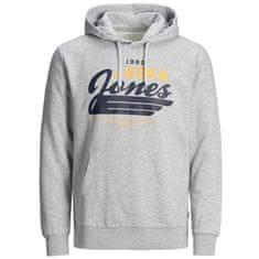 Jack&Jones Plus Bluza męska JJELOGO SWEAT 12173959LightGrey Melange (Rozmiar XXL)