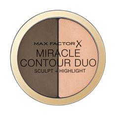 Max Factor Kontúrovacou a rozjasňujúce paletka Miracle Contour Duo (Sculpt + Highlight) 11 g (Odtieň Medium/Deep)