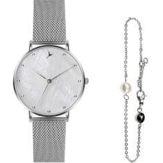 Emily Westwood Seashell Mesh & Silver Mini Pearl Bracelet EWS001