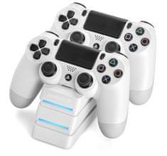 Snakebyte PS4 Twin:Charge 4 priklopna postaja, bela