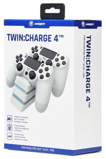 Snakebyte PS4 Twin:Charge 4 priklopna postaja