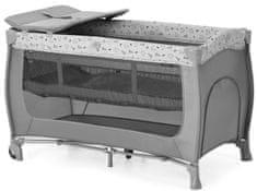 Hauck potovalna posteljica Sleep'n Play Center 2021 Nordic Grey, siva