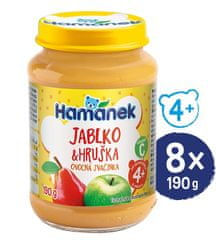 Hamánek Hruška jablko 8x 190 g