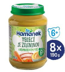 Hamánek Teľacie so zeleninou a brambovým pyré 8x 190g