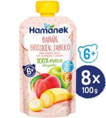 Hamánek Broskev banán 8x 100g